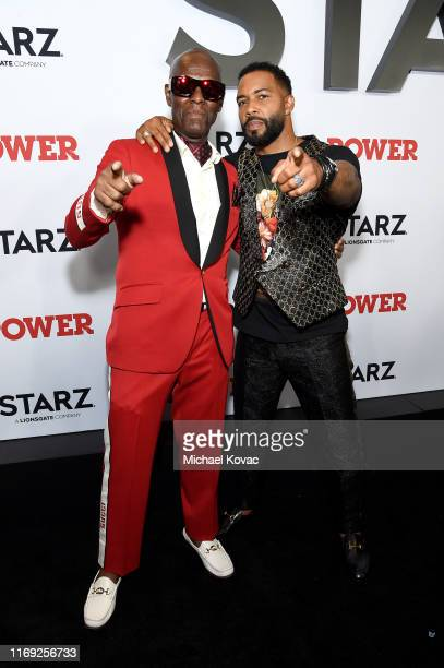 """Dapper Dan and Omari Hardwick at STARZ Madison Square Garden """"Power"""" Season 6 Red Carpet Premiere, Concert, and Party on August 20, 2019 in New York..."""