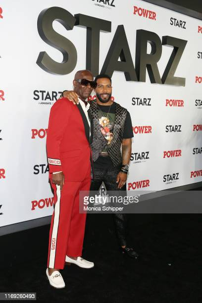 "Dapper Dan and Omari Hardwick attend the ""Power"" final season world premiere at The Hulu Theater at Madison Square Garden on August 20, 2019 in New..."