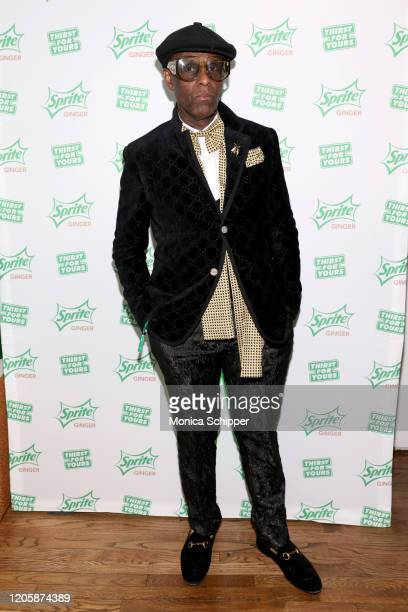 Dapper Dan arrives at Extra Butter NYC for the Sprite Ginger Collection drop event and limited-edition fashion collection debut on Wednesday, Feb....
