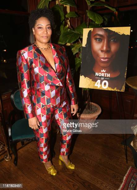 Dapper Dan Enterprises COO Danique DayLoving poses at the celebration for the North of 40 Podcast Launch at Dapper Dan Atelier on November 14 2019 in...