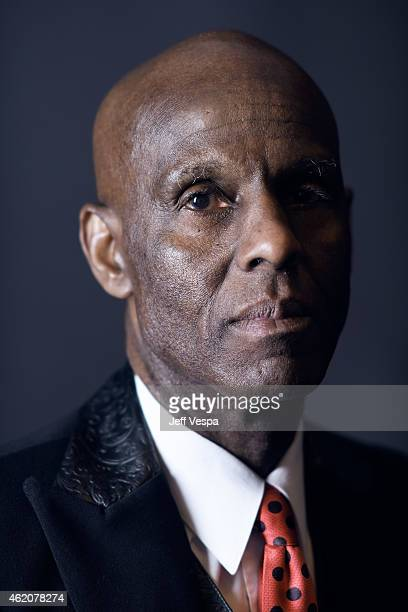 """Dapper Dan from """"Fresh Dressed"""" poses for a portrait at the Village at the Lift Presented by McDonald's McCafe during the 2015 Sundance Film Festival..."""