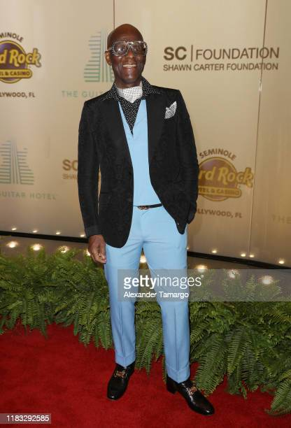 Dapper Dan is seen arriving to the 2019 Shawn Carter Foundation Gala at Seminole Hard Rock Hotel and Casino on November 16 2019 in Miami Florida