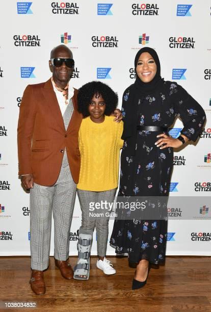 Dapper Dan, Naomi Wadler, and Ibtihaj Muhammad attend Global Citizen Week: The Spirit Of A Movement at Riverside Church on September 22, 2018 in New...