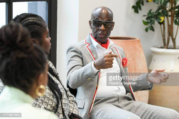 Dapper Dan speaks on stage at the BoF 500 Symposium at Galeries Lafayette on September 29, 2019 in Paris, France.