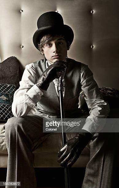 dapper young victorian guy - oliver twist stock pictures, royalty-free photos & images