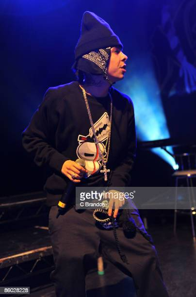 Dappy of NDubz performs on stage at Shepherds Bush Empire on April 18 2009 in London England