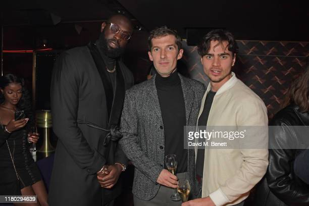 Daps aka Oladapo Fagbenle Gwilym Lee and Tom York attend attends an after party for the second worldwide screening of The Broken Butterfly hosted by...