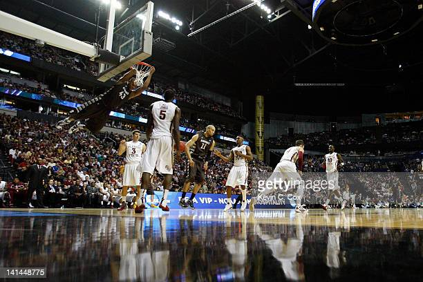 Da'Quan Cook of the St Bonaventure Bonnies dunks the ball against the Florida State Seminoles during the second round of the 2012 NCAA Men's...
