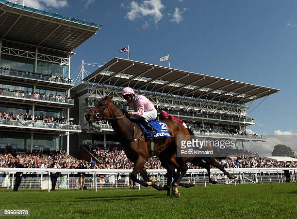 Dar Re Mi ridden by Jimmy Fortune wins The Darley Yorkshire Oaks during the Ebor Festival at York Race Course on August 20 2009 in York England