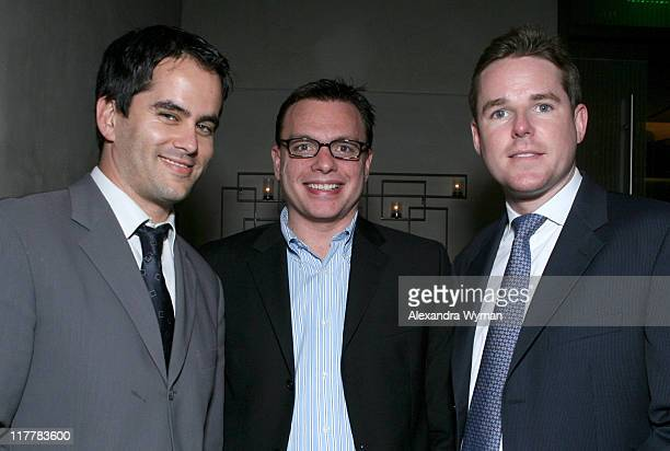 Dar Rollins David Lust and Chris Hart during Hennessy Higher Marques Dinner Hosted by Bonnie Somerville in Los Angeles CA United States