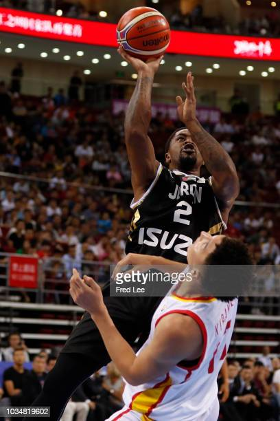 Dar Tucker of Jordan in action during the 2019 Men's Basketball World Cup Qualifier match between China and Jordan at Cadillac Arena on September 17...