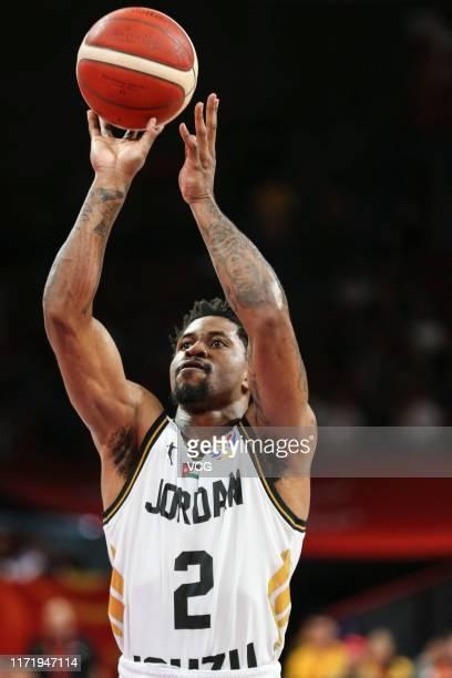 Dar Tucker of Jordan shoots the ball during FIBA World Cup 2019 Group G match between Jordan and France at Shenzhen Bay Sports Center on September 3...