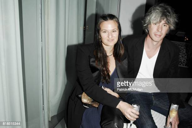 Dara Friedman Mark Handforth attend the INTERVIEW Magazine LVMH Host's Art Basel 2009 Cocktails and Dinner at Mondrian Hotel on December 03 2009 in...