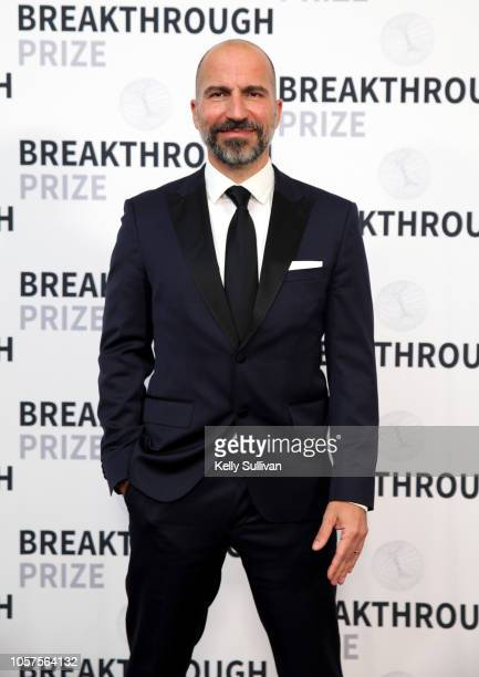 Dara Khosrowshahi attends the 2019 Breakthrough Prize at NASA Ames Research Center on November 4 2018 in Mountain View California
