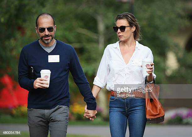 Dara Khosrowshahi CEO Expedia Inc attends the Allen Company Sun Valley Conference with Syd Khosrowshahi on July 9 2015 in Sun Valley Idaho Many of...