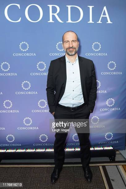 Dara Khosrowshahi CEO UBER is seen backstage during the 2019 Concordia Annual Summit Day 2 at Grand Hyatt New York on September 24 2019 in New York...