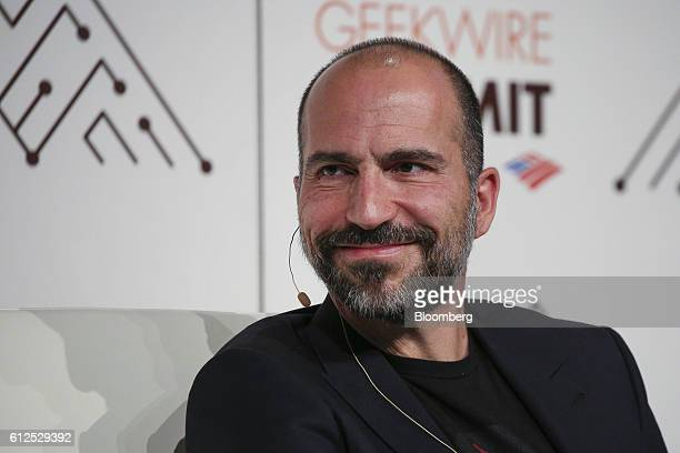 Dara Khosrowshahi chief executive officer of Expedia Inc listens during the GeekWire Summit in Seattle Washington US on Tuesday Oct 4 2016 The summit...