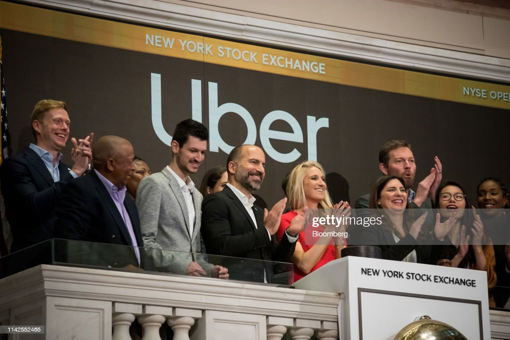 Trading On The Floor Of NYSE As Uber Releases IPO : News Photo