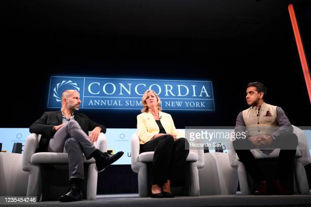 Dara Khosrowshahi, Chief Executive Officer, Uber, Kelly Clements, United Nations Deputy High Commissioner for Refugees, United Nations Refugee...