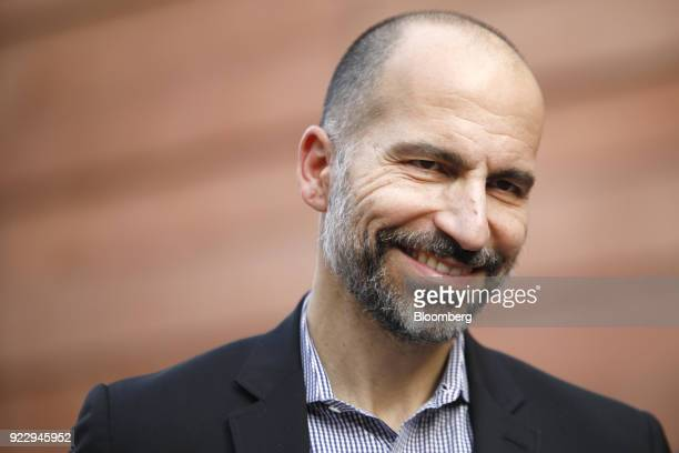 Dara Kowsrowshahi chief executive officer of Uber Technologies Inc looks on following an event in New Delhi India on Thursday Feb 22 2018 During his...