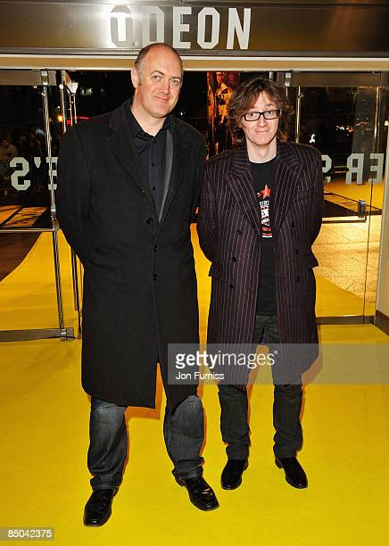 Dara O'Briain and Ed Byrne arrive for the World Film Premiere of 'Watchmen' at the Odeon Leicester Square on February 23 2009 in London England