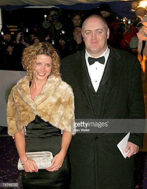 Dara O'Briain and guest at the 2005 British Comedy Awards Arrivals at London Television Studios in London