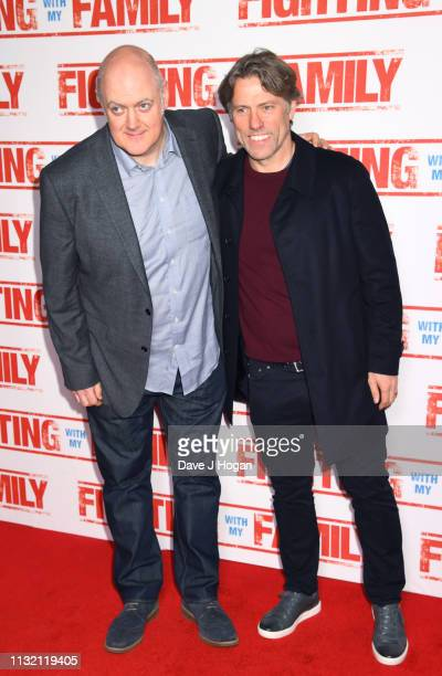 Dara O'Briain and John Bishop attend the UK Premiere of Fighting With My Family at BFI Southbank on February 25 2019 in London England