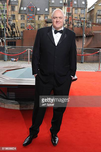 Dara O'Briain arrives for The British Academy Games Awards 2016 at Tobacco Dock on April 7 2016 in London England