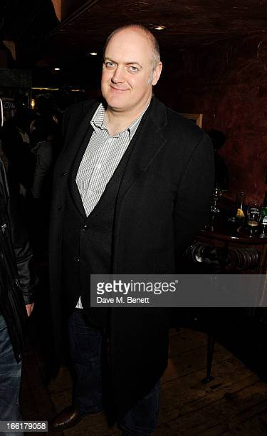 Dara O'Briain attends an after party following the press night performance of 'Once' at Waxy O'Connors on April 9 2013 in London England