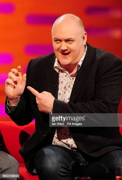 Dara O'Briain during the filming of the Graham Norton show at the London Studios in London