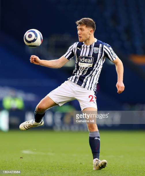 Dara O'Shea of West Bromwich Albion during the Premier League match between West Bromwich Albion and Brighton & Hove Albion at The Hawthorns on...