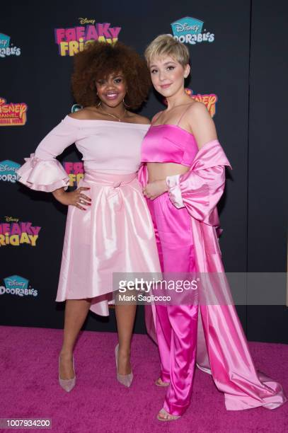 Dara Renee and Cozi Zuehlsdorff attend the Freaky Friday New York Premiere at The Beacon Theatre on July 30 2018 in New York City