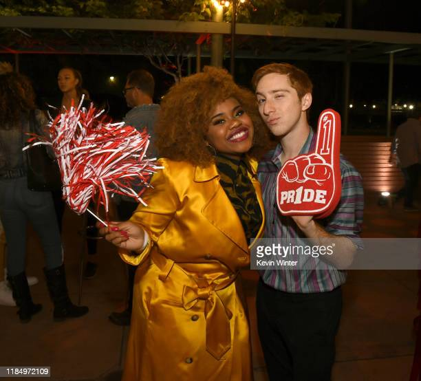 """Dara Renee and Larry Saperstein pose at the after party for the premiere of Disney+'s """"High School Musical: The Musical: The Series"""" at the Walt..."""