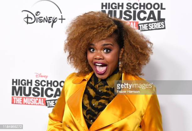 "Dara Renee attends the Premiere Of Disney+'s ""High School Musical: The Musical: The Series"" at Walt Disney Studio Lot on November 01, 2019 in..."