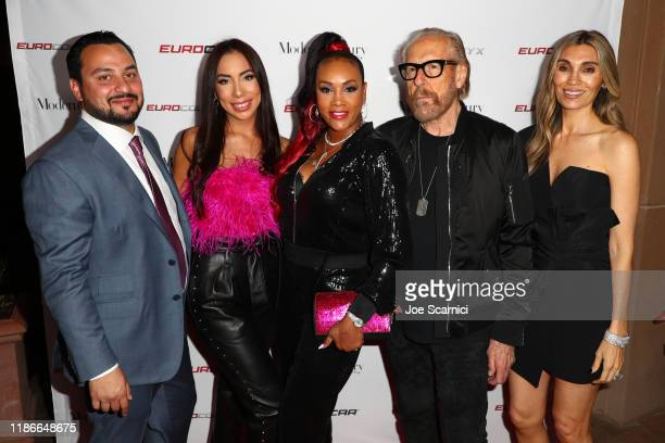 Dara Taheri Delight Taheri Vivica Fox Larry Sands and Christina Sands attend the Eurocollective Euro Watch Euro Optyx Grand Opening Partyˆ at Fashion...