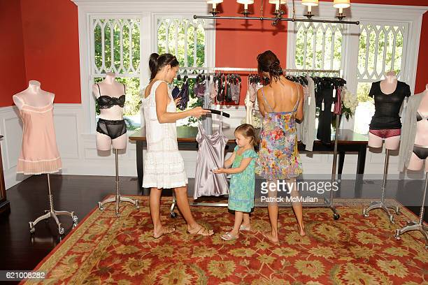 Dara Tomanovich Anick Guira and Estelle Guira attend VICTORIA's SECRET Supermodel Obsessions Fall Preview Event at Home of Hanna Soukupova on August...