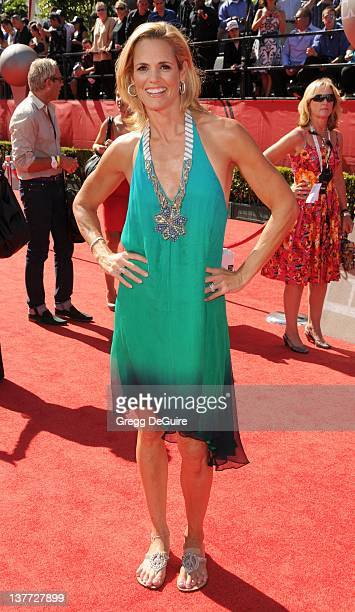 Dara Torres arrives at the 2010 ESPY Awards at the Nokia Theatre LA Live on July 14 2010 in Los Angeles California
