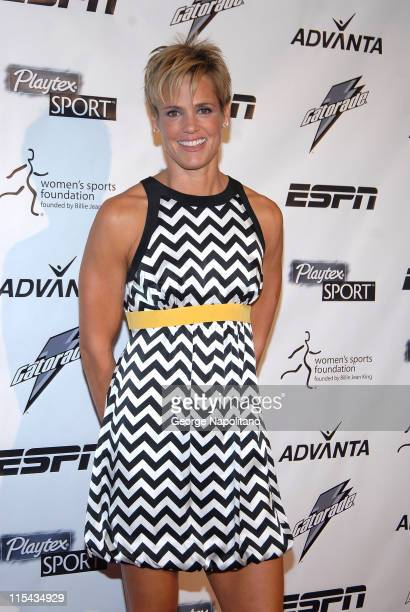 Dara Torres FourTime Olympic Gold Medalist for Swimming arrives on the Playtex Sport Pink Carpet at the Women's Sports Foundation 28th Annual Salute...