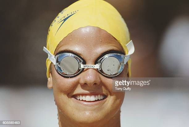Dara Torres of the United States during practice for the United States Swimming National Championships on 1 May 1983 at the California State...