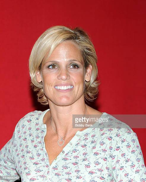 Dara Torres promotes her book Age is Just a Number at Bookends Bookstore on April 8 2009 in Ridgewood New Jersey