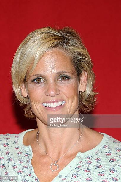 """Dara Torres promotes her book """"Age is Just a Number"""" at Bookends Bookstore on April 8, 2009 in Ridgewood, New Jersey."""