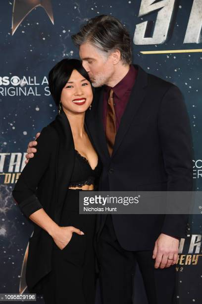 Darah Trang and Anson Mount attend the Star Trek Discovery Season 2 Premiere at the Conrad New York on January 17 2019 in New York City