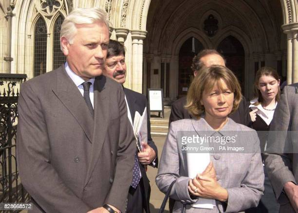 Darby and Catherine Denis outside the High Court London after winning 950000 damages due to 'unbearable' noise caused by RAF Harrier jets flying over...