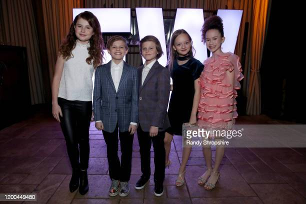 Darby Camp Nicholas Crovetti Cameron Crovetti Ivy George and Chloe Coleman are seen as Entertainment Weekly Celebrates Screen Actors Guild Award...
