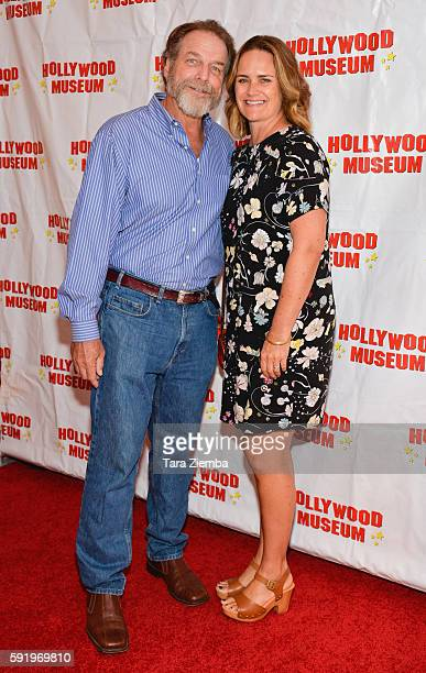 Darby Hinton and Lisa Trusel attend a preview of The Hollywood Museum's Child Stars Then And Now exhibit at The Hollywood Museum on August 18 2016 in...