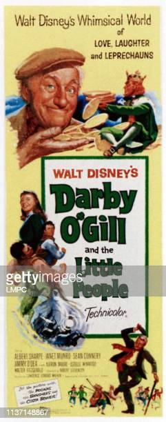 Darby O'gill And The Little People poster top left Albert Sharpe top right Jimmy O'Dea left from top Janet Munro Sean Connery 1959