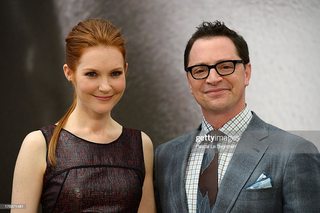 Darby Stanchfield and Joshua Malina pose at a photocall during the 53rd Monte Carlo TV Festival on June 12, 2013 in Monte-Carlo, Monaco.