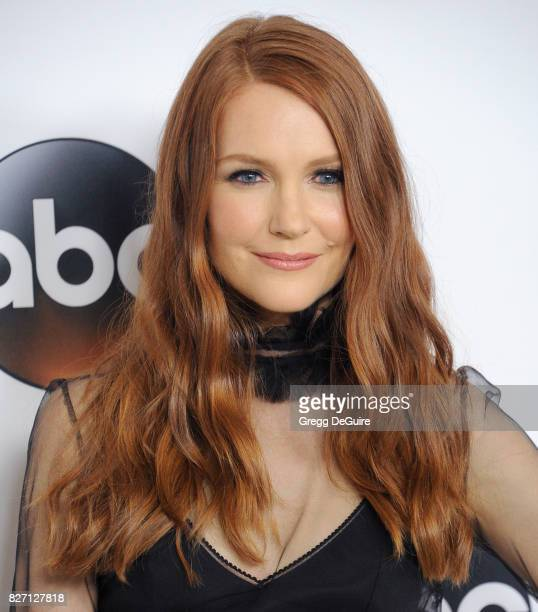Darby Stanchfield arrives at the 2017 Summer TCA Tour Disney ABC Television Group at The Beverly Hilton Hotel on August 6 2017 in Beverly Hills...