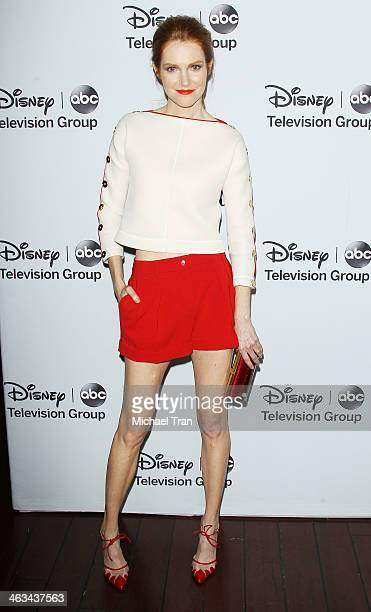 Darby Stanchfield arrives at the ABC/Disney 2014 Winter TCA party held at The Langham Huntington Hotel and Spa on January 17 2014 in Pasadena...