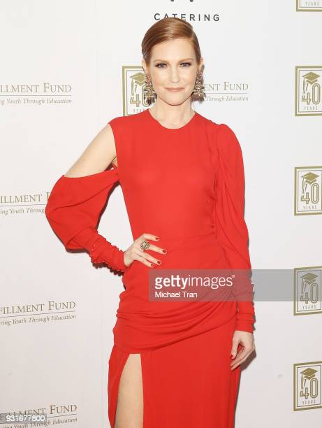 Darby Stanchfield attends A Legacy of Changing Lives presented by The Fulfillment Fund held at The Ray Dolby Ballroom at Hollywood Highland Center on...